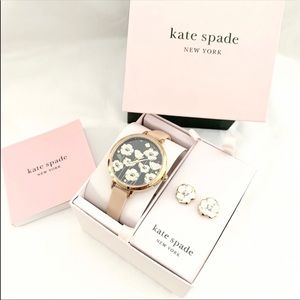 Nwt Kate spade set Holland watch and earrings